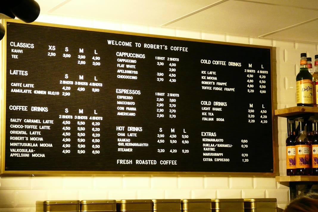 Tripla Robert's Coffee - suomalaisen kahvilan lista